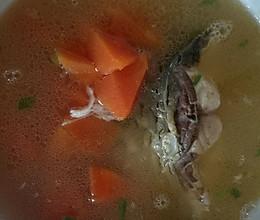 木瓜青鱼尾汤(养胃食疗)