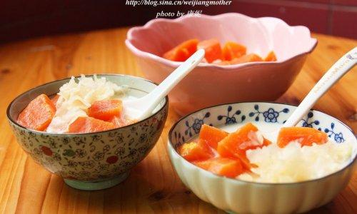 木瓜银耳炖牛奶的做法