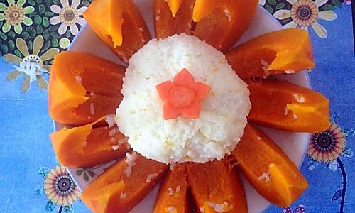 甜南瓜饭的做法