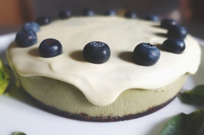 情人节白巧克力抹茶芝士蛋糕【安卡西厨】
