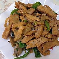 榨菜青椒炒豆腐干—乌江榨菜