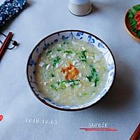 青菜咸蛋糁米粥