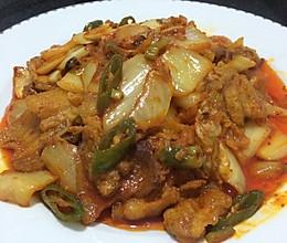 辣白菜五花肉的做法
