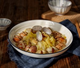 花蛤炖白菜的做法