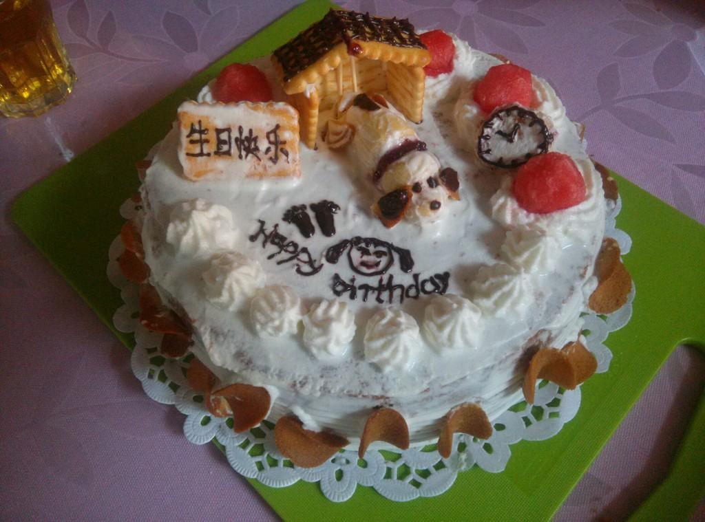 小狗屋生日蛋糕