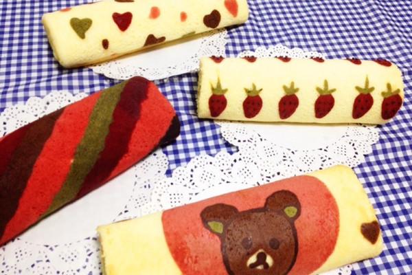 彩绘蛋糕卷的做法