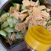 腐竹花生米拌黄瓜的做法图解10
