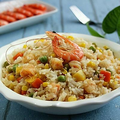 虾仁蔬果焖饭