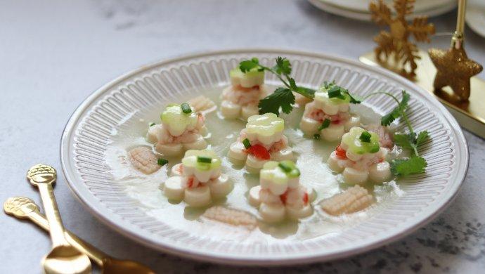 青大全食谱蒸白玉,年夜饭猪肚,清口解腻做法包萝卜的虾仁糯米图片