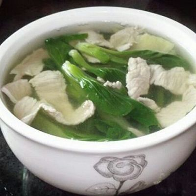 小白菜瘦肉汤