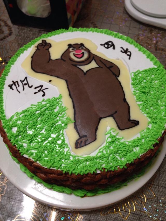 可爱蛇蛋糕图片