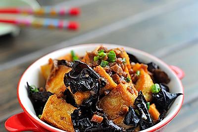 香菇醬炒豆腐黑木耳
