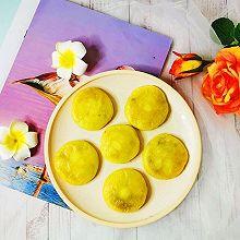 #换着花样吃早餐#早餐最爱红豆沙馅番薯饼
