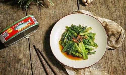 家常青菜我喜欢这样做,豆豉鲮鱼炒香麦的做法
