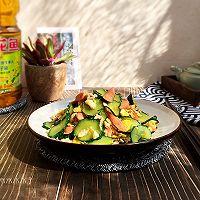 快手家常菜-黄瓜炒蛋#金龙鱼营养强化维生素A  新派菜油#的做法图解7