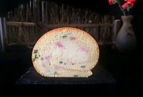 葱香培根蛋糕卷的做法