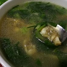 青菜滑蛏汤