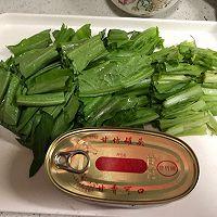 豆豉鲮鱼油麦菜———十分钟快手菜的做法图解1