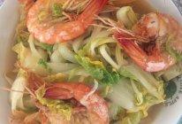 娃娃菜炖虾的做法