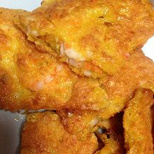 胡萝卜甜虾鸡蛋饼