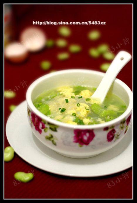 蚕豆米蛋花汤的做法
