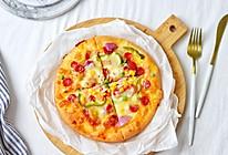 腊肉蔬菜披萨的做法
