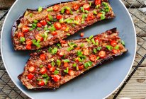 香辣鲜香巨好吃的蒜香烤茄子#全电厨王料理挑战赛热力开战!#的做法
