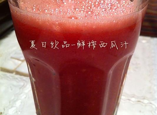 夏日饮品-鲜榨西瓜汁