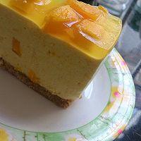 芒果冻芝士蛋糕8寸#东菱魔法云面包机#的做法图解6