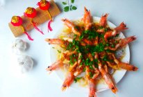 #新年开运菜,好事自然来#花开富贵蒜蓉虾的做法