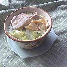 五花肉白菜炖干豆腐