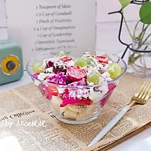 #晒出你的团圆大餐#水果藜麦坚果沙拉