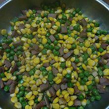 玉米豌豆炒叉烧