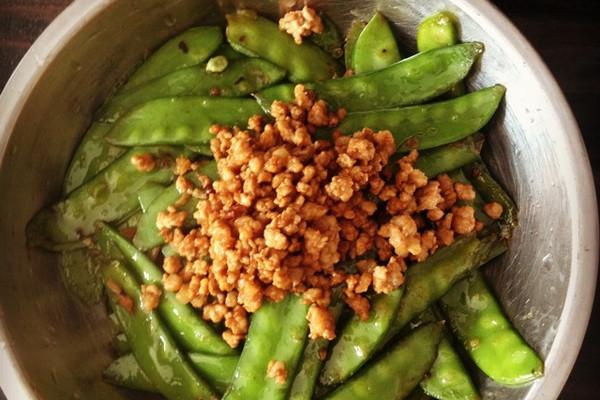 肉末荷兰豆的做法