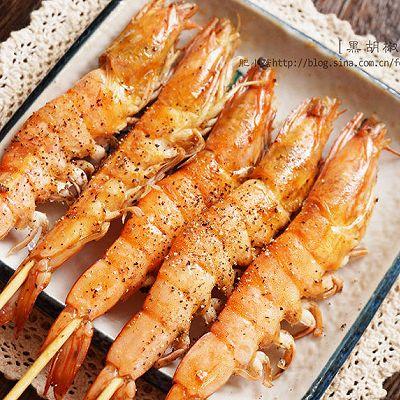 烤虾新酱料,黑胡椒烤虾