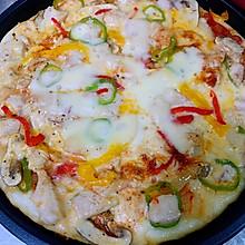電餅鐺版雞肉蘑菇披薩