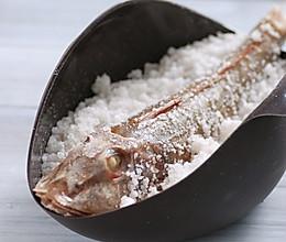 盐焗红头鱼的做法