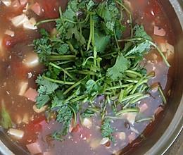 香菜鸭血豆腐汤的做法