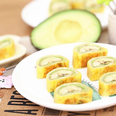 宝宝辅食食谱  牛油果香蕉卷