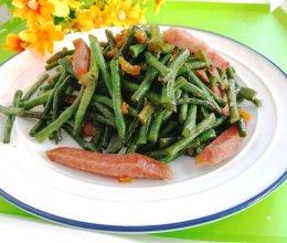 #夏日消暑,非它莫属#红肠炒豇豆的做法