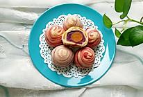 """紫薯馅彩色蛋黄酥#享""""美""""味#的做法"""