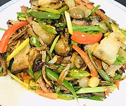 茶树菇炒腊肉的做法