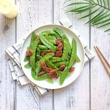 美味快手菜:荷兰豆炒腊肠