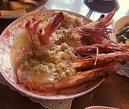 蒜蓉粉丝蒸对虾的做法