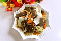 白菜梗炒魔芋的做法