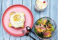 鸡蛋火腿开放三明治的做法