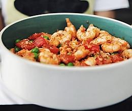酸酸的开胃菜~茄汁虾仁的做法