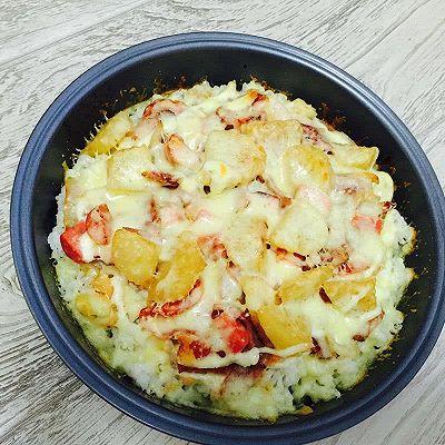 培根土豆洋葱大杂烩焗饭