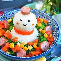 小雪人香肠饭#柏翠辅食节-营养佐餐#