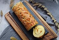 香葱肉松蛋糕卷。的做法